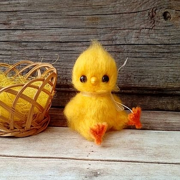 Куклы и игрушки ручной работы. Ярмарка Мастеров - ручная работа Птенчик вязаная игрушка (цыпленок, желтый). Handmade.