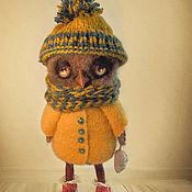 Куклы и игрушки ручной работы. Ярмарка Мастеров - ручная работа Совенок валяный. Handmade.