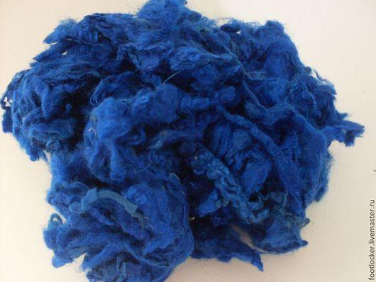 Валяние ручной работы. Ярмарка Мастеров - ручная работа. Купить Кудри Leicester,  Синие, 10 грамм. Handmade. Тёмно-синий