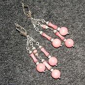 """Украшения ручной работы. Ярмарка Мастеров - ручная работа Серьги """"Благородный розовый"""". Handmade."""
