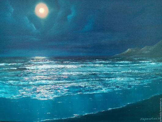 Живопись Караникола Наталья  морской пейзаж ` лунная дорожка `