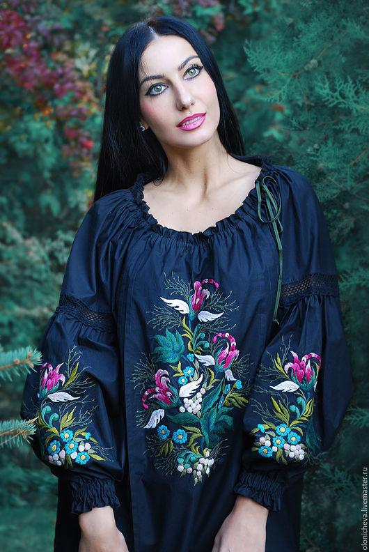 """Блузки ручной работы. Ярмарка Мастеров - ручная работа. Купить Экзотическая вышитая блуза """"Цветок ангела"""". Handmade. Вышитая блузка"""