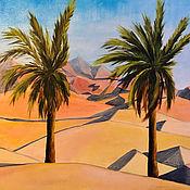 Картины и панно handmade. Livemaster - original item Oil painting: BARKHANY, UAE, m/x, 50h40, post-impressionism. Handmade.