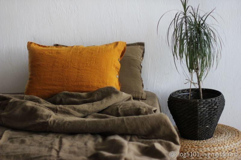 Linen bed linen-Luxury linen linen, Bedding sets, Moscow,  Фото №1