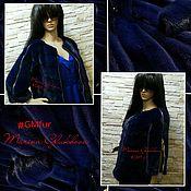 Одежда ручной работы. Ярмарка Мастеров - ручная работа Куртка норковая темно-синяя. Handmade.