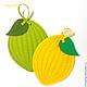 """Кухня ручной работы. Ярмарка Мастеров - ручная работа. Купить Прихватки  """"Лимончики и лайм"""". Handmade. Лимонный, для кухни, подарок подруге"""