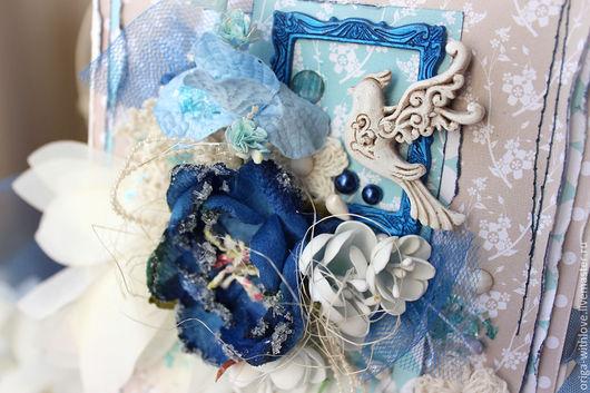 """Открытки для женщин, ручной работы. Ярмарка Мастеров - ручная работа. Купить Открытка """"Птица счастья"""". Handmade. Синий, поздравительная открытка"""