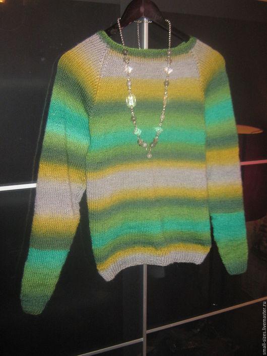 Кофты и свитера ручной работы. Ярмарка Мастеров - ручная работа. Купить шерстяной укороченный джемпер Сад. Handmade. Ярко-зелёный