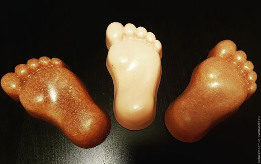 Мыло ручной работы. Ярмарка Мастеров - ручная работа. Купить Мыло для ног с пемзой и ментолом. Handmade. Бежевый, мыло в подарок