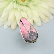 handmade. Livemaster - original item Ring with rhodonite. Silver.. Handmade.