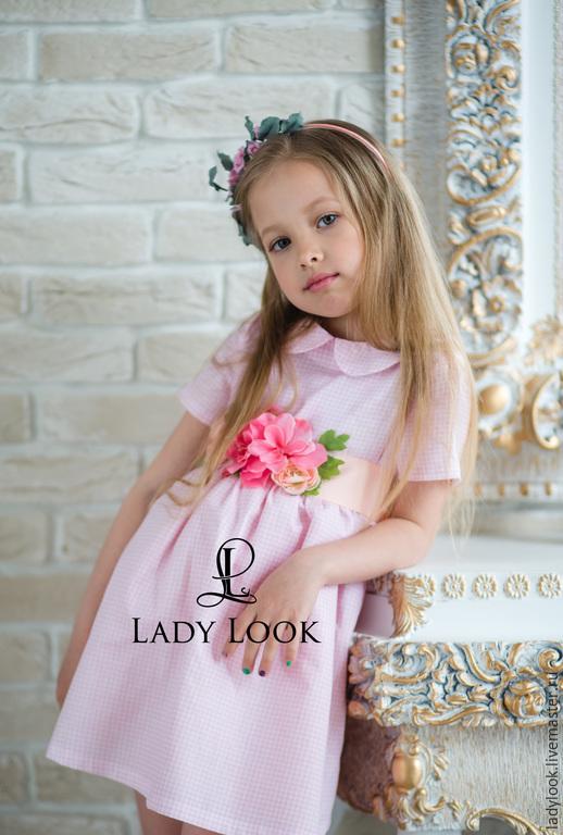 Одежда для девочек, ручной работы. Ярмарка Мастеров - ручная работа. Купить Платье детское look 60 с дизайнерским поясом. Handmade.