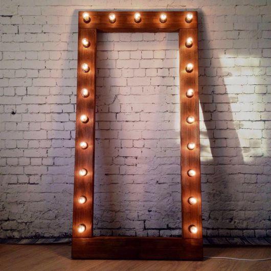 Освещение ручной работы. Ярмарка Мастеров - ручная работа. Купить Рама-светильник. Handmade. Рамка, свет, интрьер, браширование