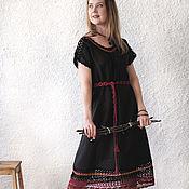 Одежда handmade. Livemaster - original item Linen dress with lace