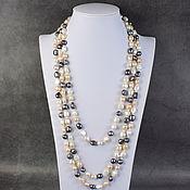 Работы для детей, handmade. Livemaster - original item Natural River Baroque Pearls Long Beads. Handmade.