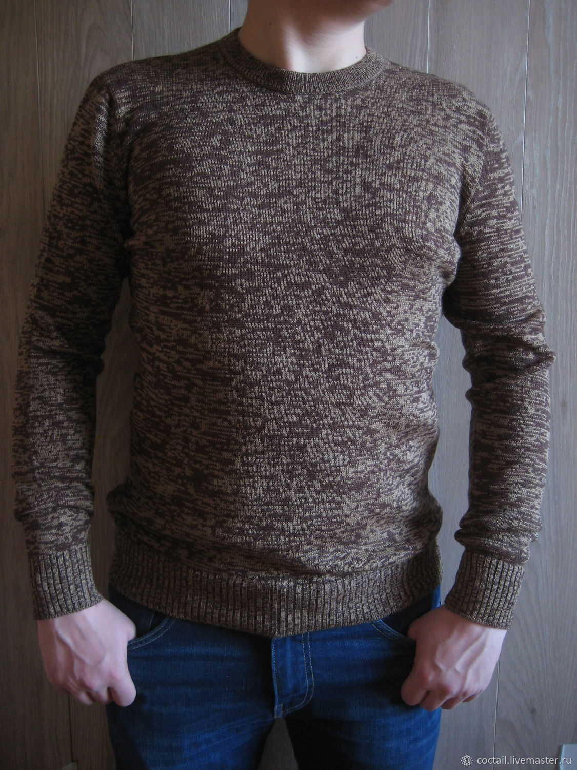 """Вязаный мужской пуловер """" Truffle mix"""", Пуловеры, Москва,  Фото №1"""