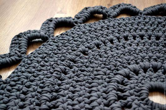 Текстиль, ковры ручной работы. Ярмарка Мастеров - ручная работа. Купить Коврик в ванную. Handmade. Серый, коврик ручной работы