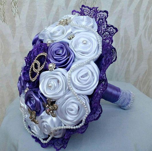 Букеты ручной работы. Ярмарка Мастеров - ручная работа. Купить свадебный букет невесты. Handmade. Букет невесты из ткани