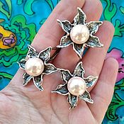 Украшения handmade. Livemaster - original item 333 Set silver earrings and ring with stones. Handmade.