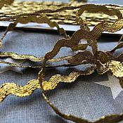 Тесьмы ручной работы. Ярмарка Мастеров - ручная работа Тесьмы: Тесьма декоративная Вьюнчик ( вьюнок), зиг-заг, золото. Handmade.