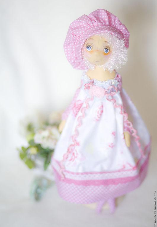 Куклы тыквоголовки ручной работы. Ярмарка Мастеров - ручная работа. Купить Милый друг. Handmade. Бледно-розовый, сад, батист