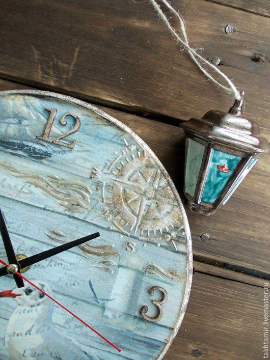 """Часы для дома ручной работы. Ярмарка Мастеров - ручная работа. Купить Часы """"Чайка белая над моря синевой..."""". Handmade."""