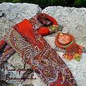 Украшения ручной работы. Ярмарка Мастеров - ручная работа Кулон на платке Жаркий Восток. Handmade.
