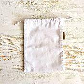 Мешочки ручной работы. Ярмарка Мастеров - ручная работа Эко мешочек из бязи размер S. Handmade.