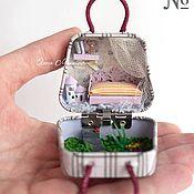 Кукольные домики ручной работы. Ярмарка Мастеров - ручная работа Домик в сумочке для кукол и зверят до 3 см. (НА ЗАКАЗ). Handmade.