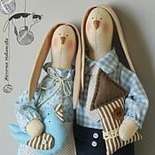 Куклы и игрушки ручной работы. Ярмарка Мастеров - ручная работа Тильда Зайцы-неразлучники. Handmade.