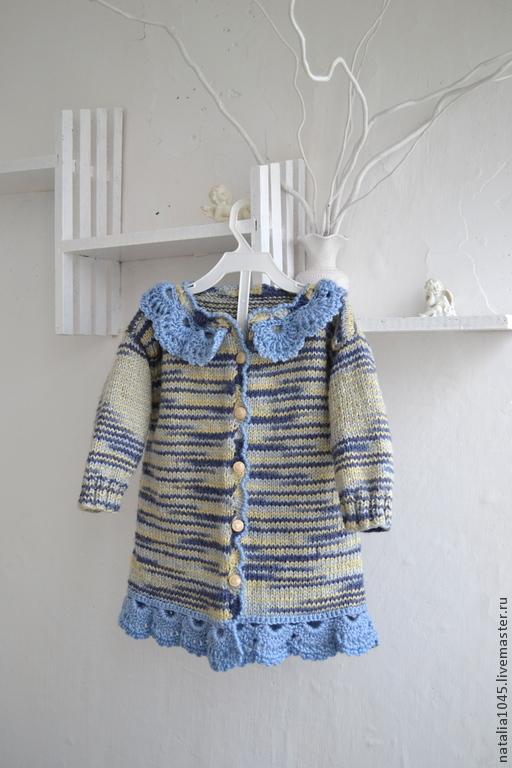 Одежда для девочек, ручной работы. Ярмарка Мастеров - ручная работа. Купить Кофта вязаная для девочки. Handmade. Разноцветный, осенний аксессуар