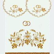 """Рушники ручной работы. Ярмарка Мастеров - ручная работа Венчальный набор """"Ромашка"""" из 100% льна. Handmade."""