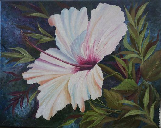 Картины цветов ручной работы. Ярмарка Мастеров - ручная работа. Купить Белый цветок. Handmade. Белый, нежное написание, масло
