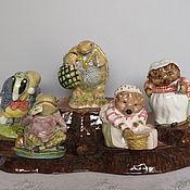 handmade. Livemaster - original item Porcelain figurines of the Beatrix Potter series England. Handmade.
