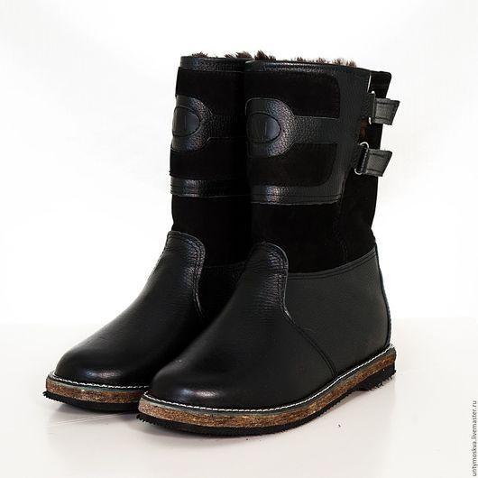 Обувь ручной работы. Ярмарка Мастеров - ручная работа. Купить Монголки мужские. (Короткие) мм3. Handmade. Черный, натуральная кожа