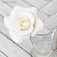 Заколки ручной работы. Комплект свадебных шпилек с розами - Белые (3 шт). Tanya Flower. Ярмарка Мастеров. Цветы в волосы