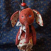Куклы и игрушки ручной работы. Ярмарка Мастеров - ручная работа Лори, повелительница божьих коровок, тедди-слоник. Handmade.