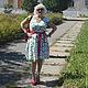 """Платья ручной работы. Ярмарка Мастеров - ручная работа. Купить Платье """"Ромашковое поле"""" 2 варианта.. Handmade. Белый"""