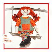 Материалы для творчества ручной работы. Ярмарка Мастеров - ручная работа Кукла текстильная. Мастер класс кукла Пеппи Длинный чулок. Handmade.