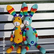Куклы и игрушки ручной работы. Ярмарка Мастеров - ручная работа Погремушка Зайчик. Handmade.