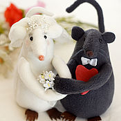 Year of the Rat 2020 handmade. Livemaster - original item Year Of The Rat 2020: Rats groom and the bride price for a pair. Handmade.
