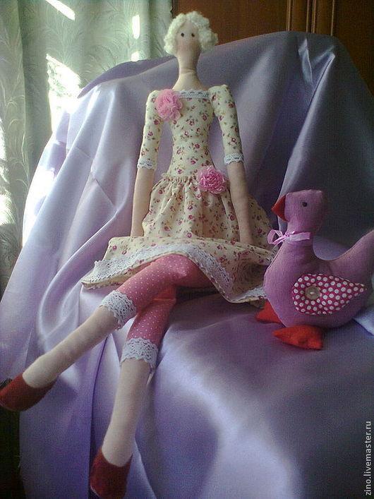 Куклы Тильды ручной работы. Ярмарка Мастеров - ручная работа. Купить кукла Тильда в розовом + подарок. Handmade. Розовый