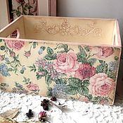 """Для дома и интерьера ручной работы. Ярмарка Мастеров - ручная работа Короб """"Старинные розы 6"""". Handmade."""