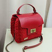Классическая сумка ручной работы. Ярмарка Мастеров - ручная работа Красная сумка. Handmade.
