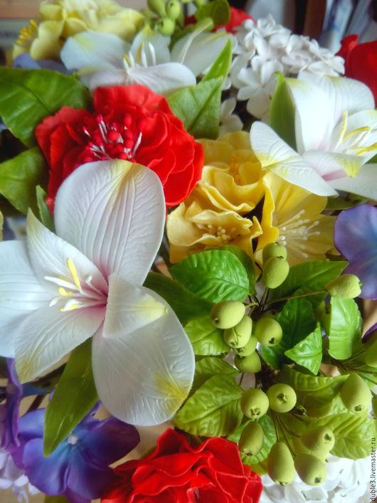 Свадебные цветы ручной работы. Ярмарка Мастеров - ручная работа. Купить Букет невесты из полимерной глины  Очарование. Handmade. Комбинированный