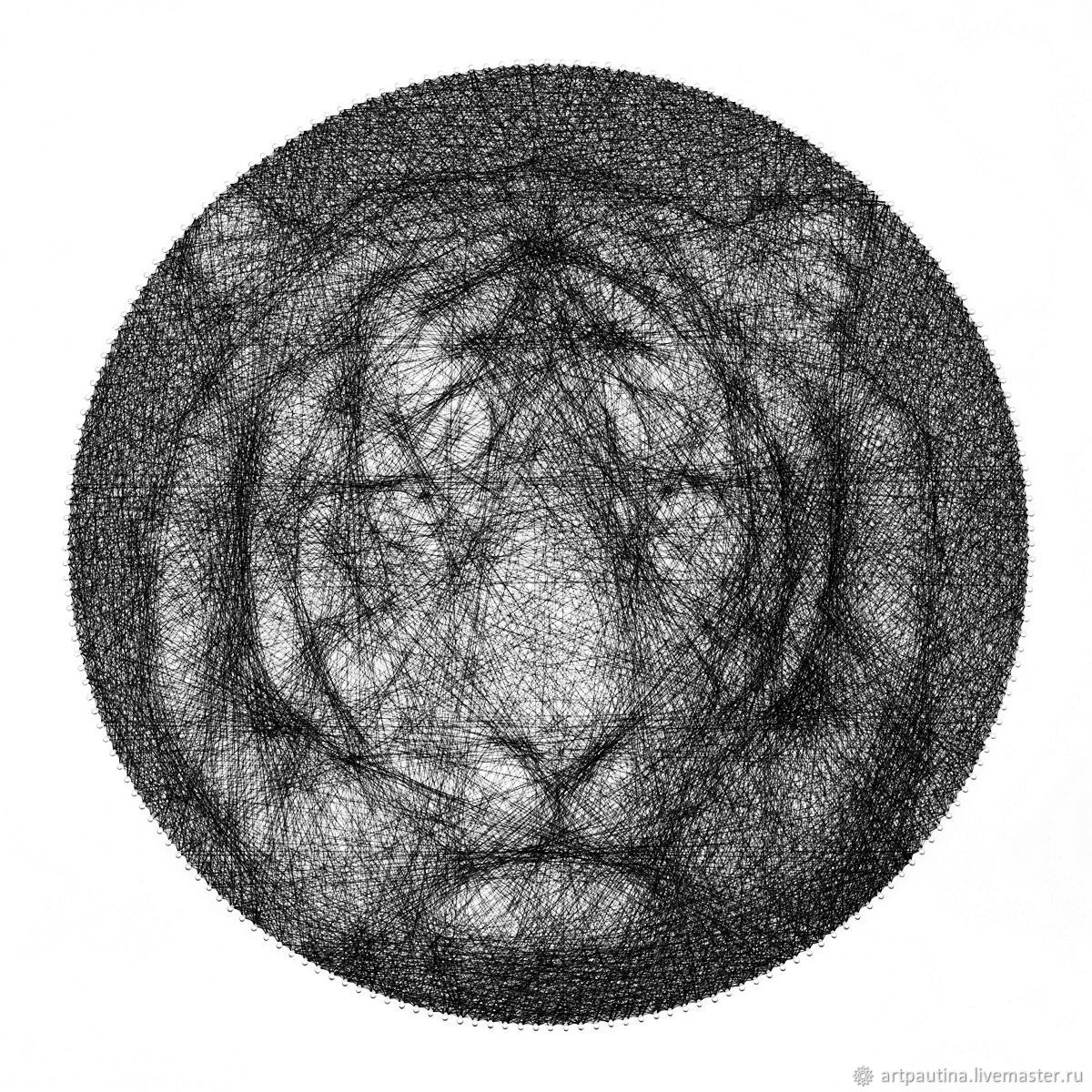 The tiger picture thread string art, Pictures, Moscow,  Фото №1