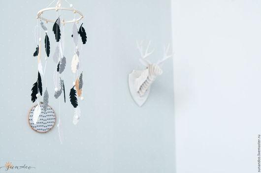 Детская ручной работы. Ярмарка Мастеров - ручная работа. Купить Декоративный мобиль ручной работы для детской комнаты в стиле бохо. Handmade.