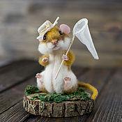 Куклы и игрушки ручной работы. Ярмарка Мастеров - ручная работа Мышонок Дачник. Handmade.