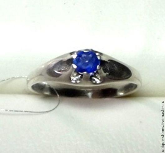Кольца ручной работы. Ярмарка Мастеров - ручная работа. Купить Серебряное кольцо с природным сапфиром. Handmade. Синий, сапфир прироный