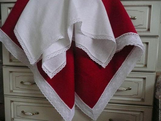 """Текстиль, ковры ручной работы. Ярмарка Мастеров - ручная работа. Купить Комплект столового белья""""Праздничный"""" 2 предмета. Handmade."""