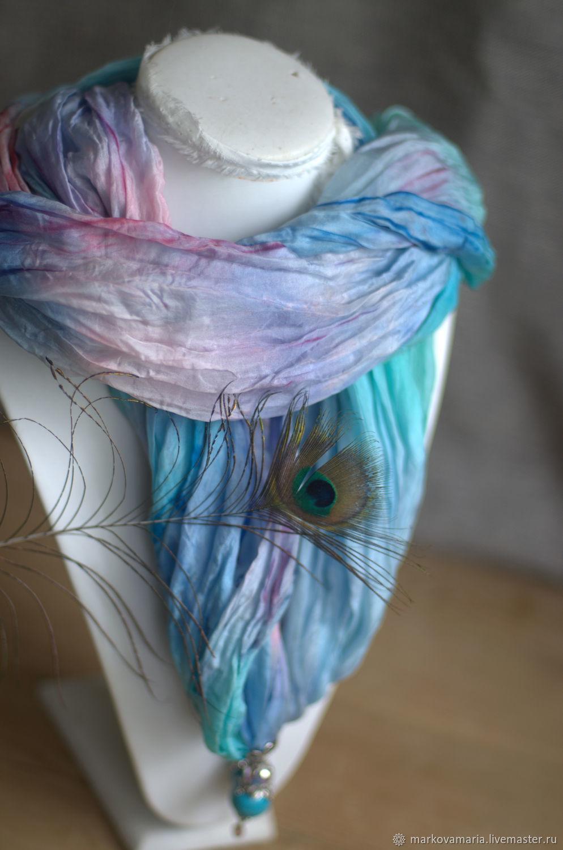 """Copy of Scarf silk """"Dawn"""" Scarf silk batik, Scarves handmade, St. Petersburg, Фото №1"""